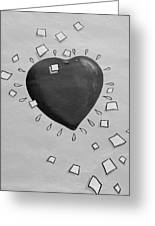Redheart In Black And White2 Greeting Card