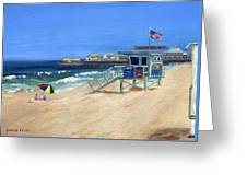 Redondo Beach Lifeguard  Greeting Card