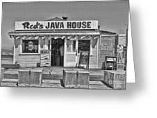 Red's Java House San Francisco By Diana Sainz Greeting Card