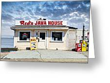 Red's Java House Greeting Card by Tim Fleming