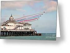 Reds Over Eastbourne Pier Greeting Card