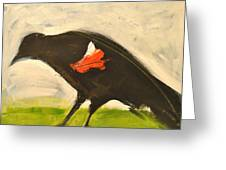 Redwing Muses Greeting Card