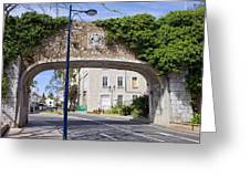 Referendum Gate In Gibraltar Greeting Card