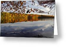Reflected Autumn Colors Greeting Card