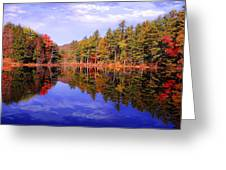 Reflected Autumn Lake Greeting Card by William Carroll