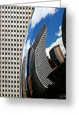 Reflected City Greeting Card by Joe Bonita