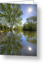 Reflected Star Greeting Card