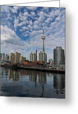 Reflecting On Toronto And Harbourfront  Greeting Card