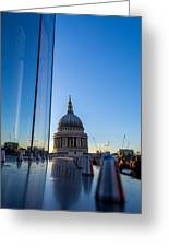 Reflecting St Pauls Greeting Card by Andrew Lalchan