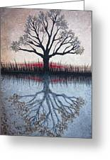 Reflecting Tree Greeting Card by Janet King