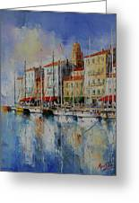 Reflection  -  St.tropez - France Greeting Card