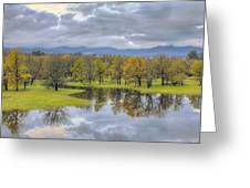 Reflection At Columbia River Gorge Greeting Card