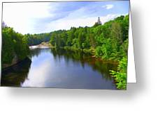 Reflection In Beaupre Quebec Greeting Card