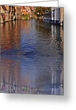 Reflection In Canal Greeting Card