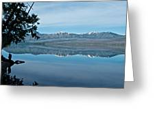 Reflection In Lake Mcdonald In Glacier National Park-montana Greeting Card