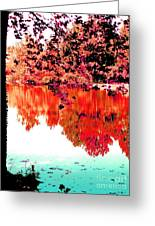 Reflection In Red Greeting Card
