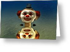 Reflection Of A Clown Greeting Card