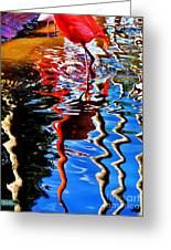 Reflection Of A Flamingo 1 Greeting Card