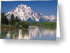 Reflection Of A Mountain Range Greeting Card