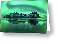 Reflection Of Aurora Borealis Greeting Card