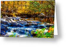 Reflection Of Autumns Natural Beauty Greeting Card