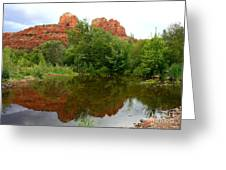 Reflection Of Cathedral Rock Greeting Card