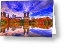 Reflection Of City Greeting Card