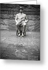 Reflection Of Fdr Greeting Card