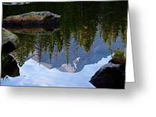 Reflection Of Longs Peak Greeting Card