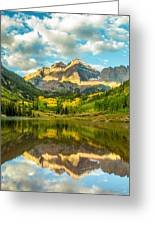 Reflection Of Maroon Bells Greeting Card