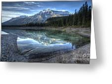 Reflection Of Mount Amery At Graveyard Flats Greeting Card by Brian Stamm