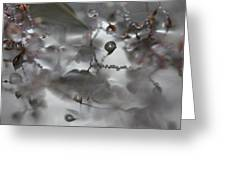 Reflection Of Raindrops In A Puddle Greeting Card