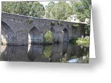 Reflection Of The Bridge Greeting Card