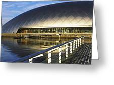 Reflection Of The Glasgow Science Greeting Card