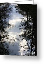 Reflection On Sweet Water Strand Greeting Card