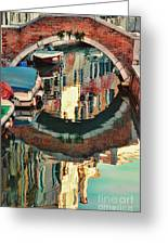 Reflection-venice Italy Greeting Card
