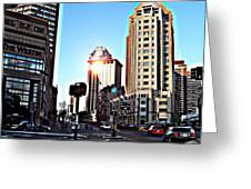 Reflections About Boston Greeting Card