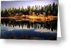 Reflections At Grace Lake Greeting Card