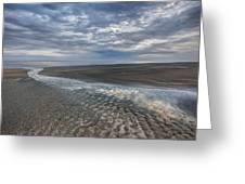 Reflections At Low Tide Greeting Card