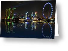 Reflections At Marina Bay Greeting Card