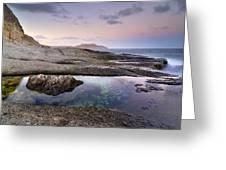 Reflections At Plomo Beach Greeting Card