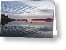 Reflections At Puerto Natales Greeting Card