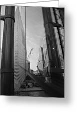 Reflections At The 9/11 Museum In Black And White Greeting Card