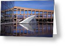 Reflections At The Library Greeting Card
