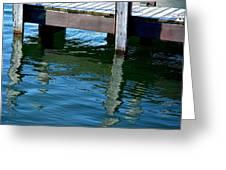 Reflections At The Marina Greeting Card
