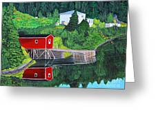 Reflections Greeting Card by Barbara Griffin