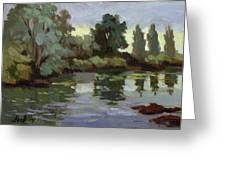 Reflections Duwamish River Greeting Card
