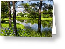 Reflections In A Tranquil Pond Greeting Card