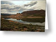 Reflections In Blue Mesa Greeting Card