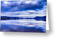 Reflections In Blue Greeting Card